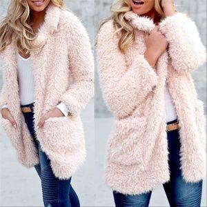 Jackets & Blazers - BLUSH SOFT FAUX FUR COAT